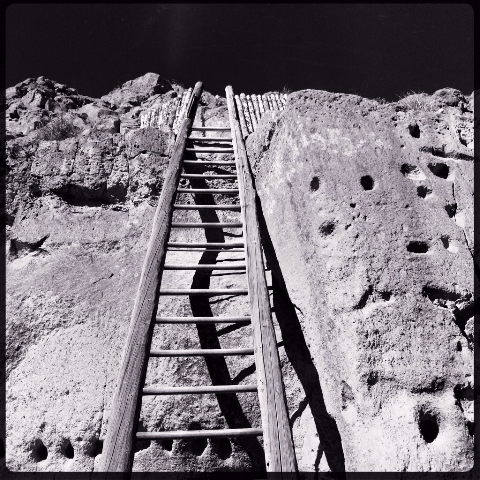 Puye Cliffs, New Mexico by Leslie aka @lkbside<br /> <br /> Hipstamatic Lowy/RockBW<br /> <br />...
