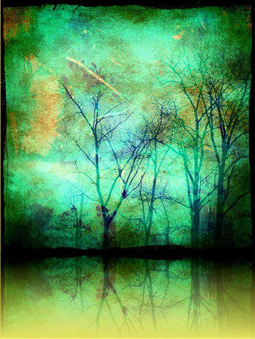 Green Trees Reflected