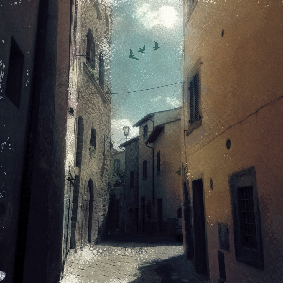 The streets of Siena