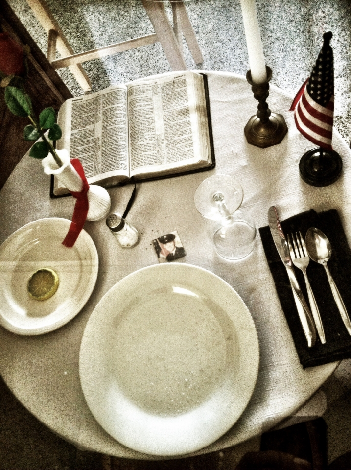 Table for lost soldiers