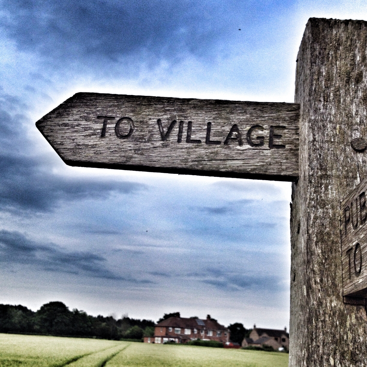 To Village, which one? Who knows? #21DaysWorld #Lincolnshire #Day3 #Sign
