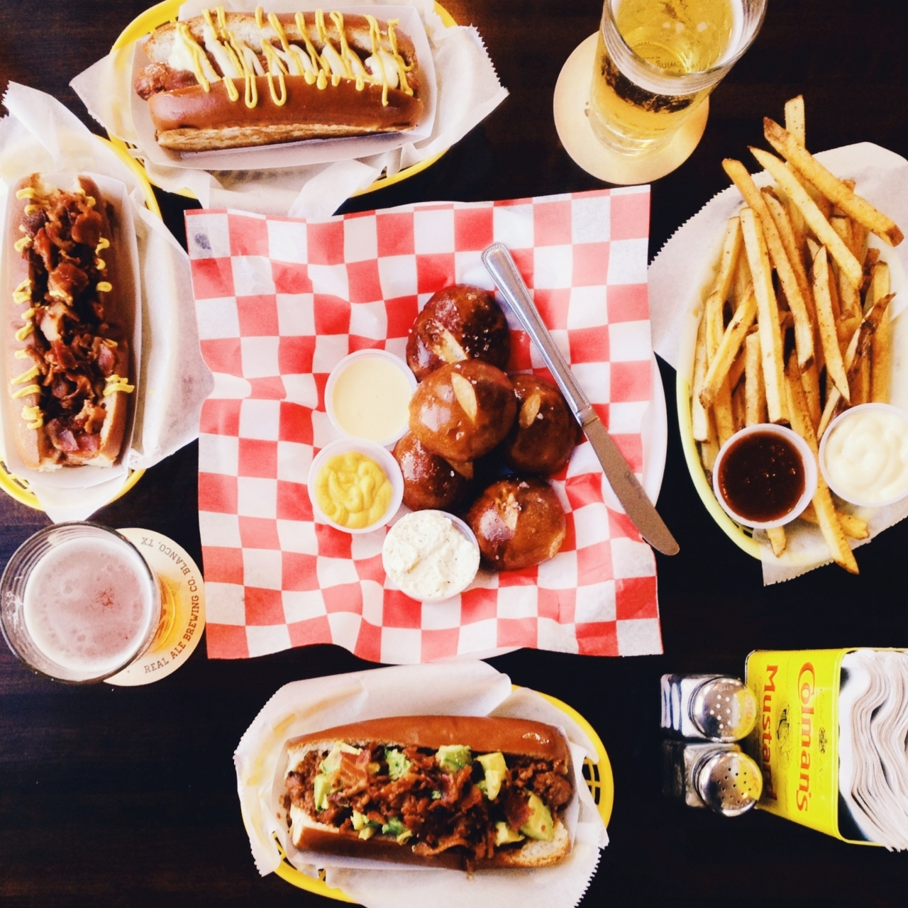 Dogs, fries, pretzel rolls and craft beer!<br /> <br /> #21DaysWORLD #HoustonTX