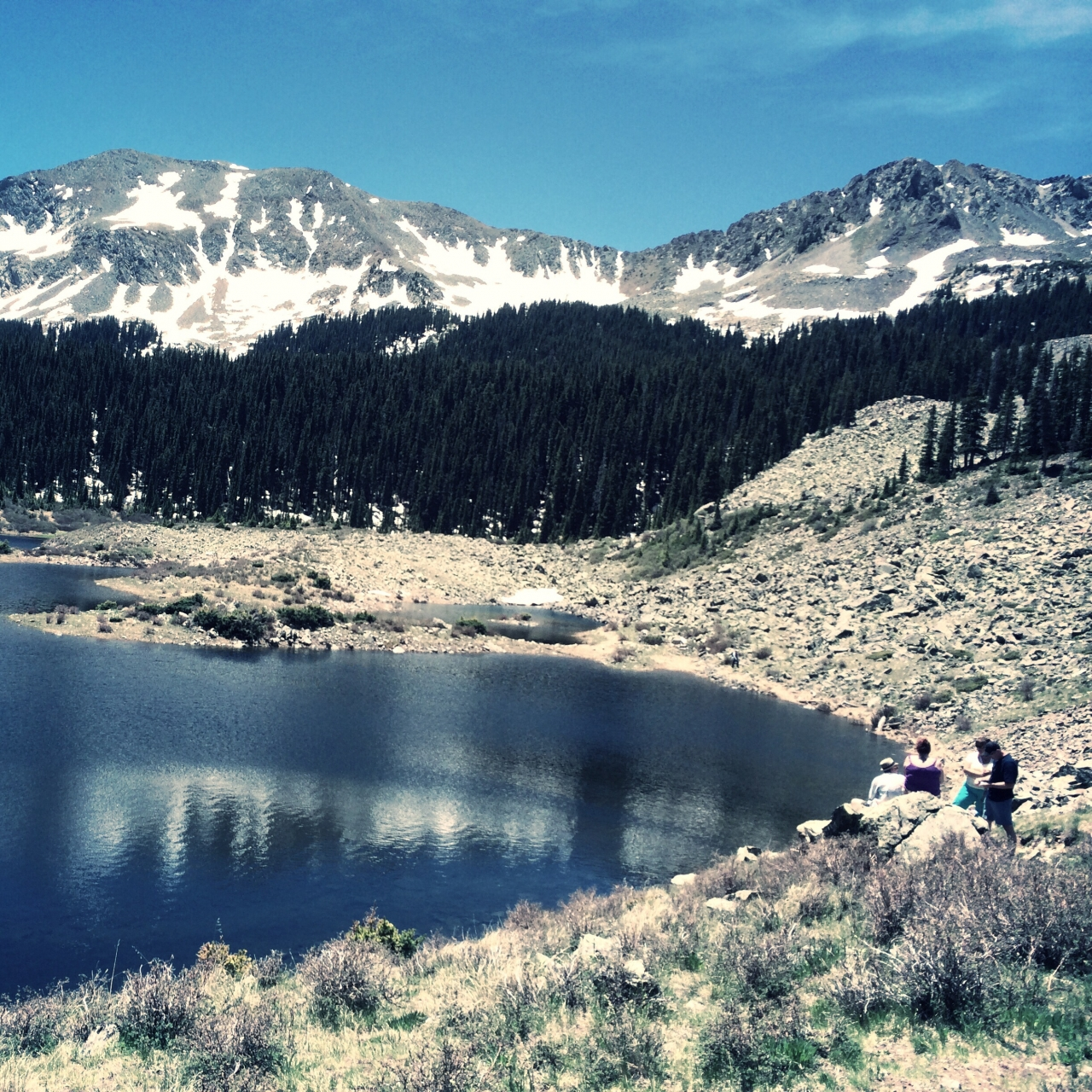 Hiked to Williams Lake today, elev 11,040'   Above Taos, <br /> NM #21DaysWorld #SantaFe...