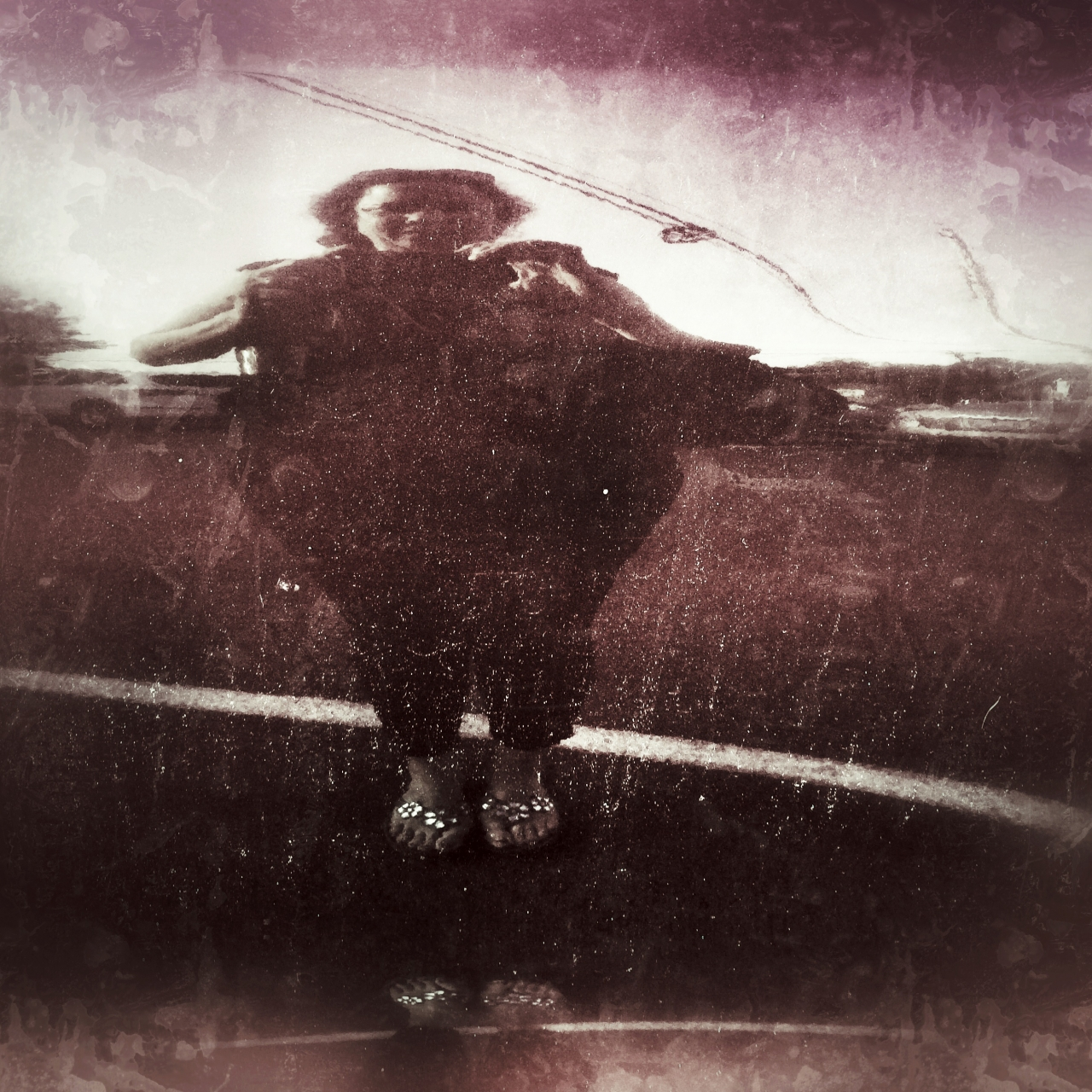 iPhone 5s, snapseed<br /> Sorry these are late.  This is a reflection off of my car..kinda looks...
