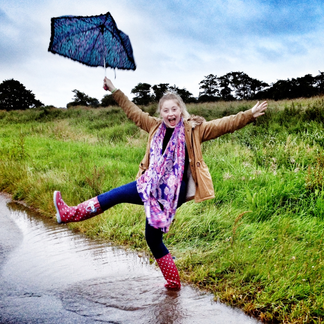 #Day20 #Fun #21DaysWorld #Lincolnshire having fun in our typical UK weather #mobitog