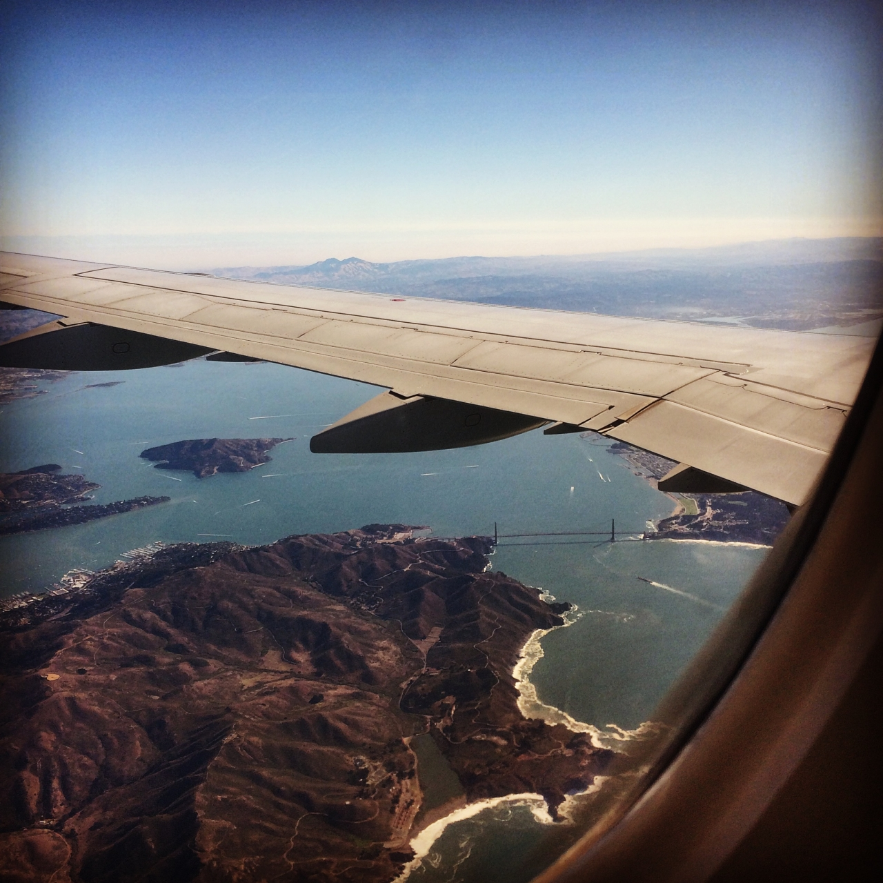 Preparing for landing in SF. Beautiful city. If there is something on my to do list, that is to...