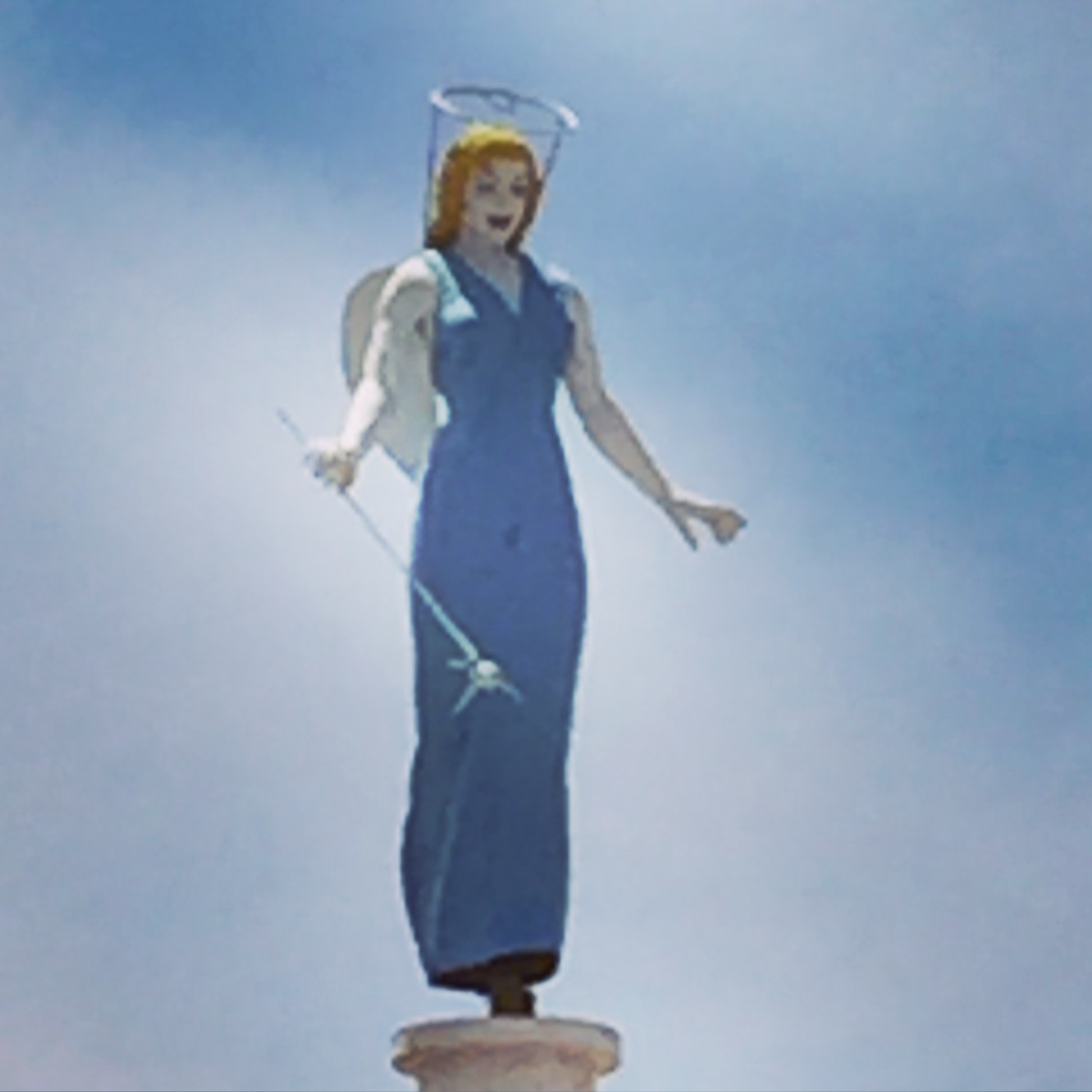 This is the only remaining piece from the The Blue Angel motel in Las Vegas. The motel was...