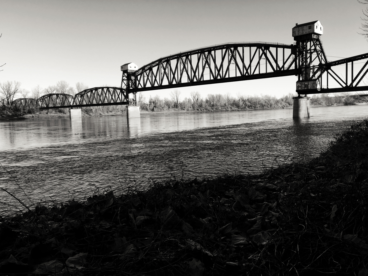 Bridge now part of Katy Trail but railroad company would like to dismantle it to reclaim the steel.