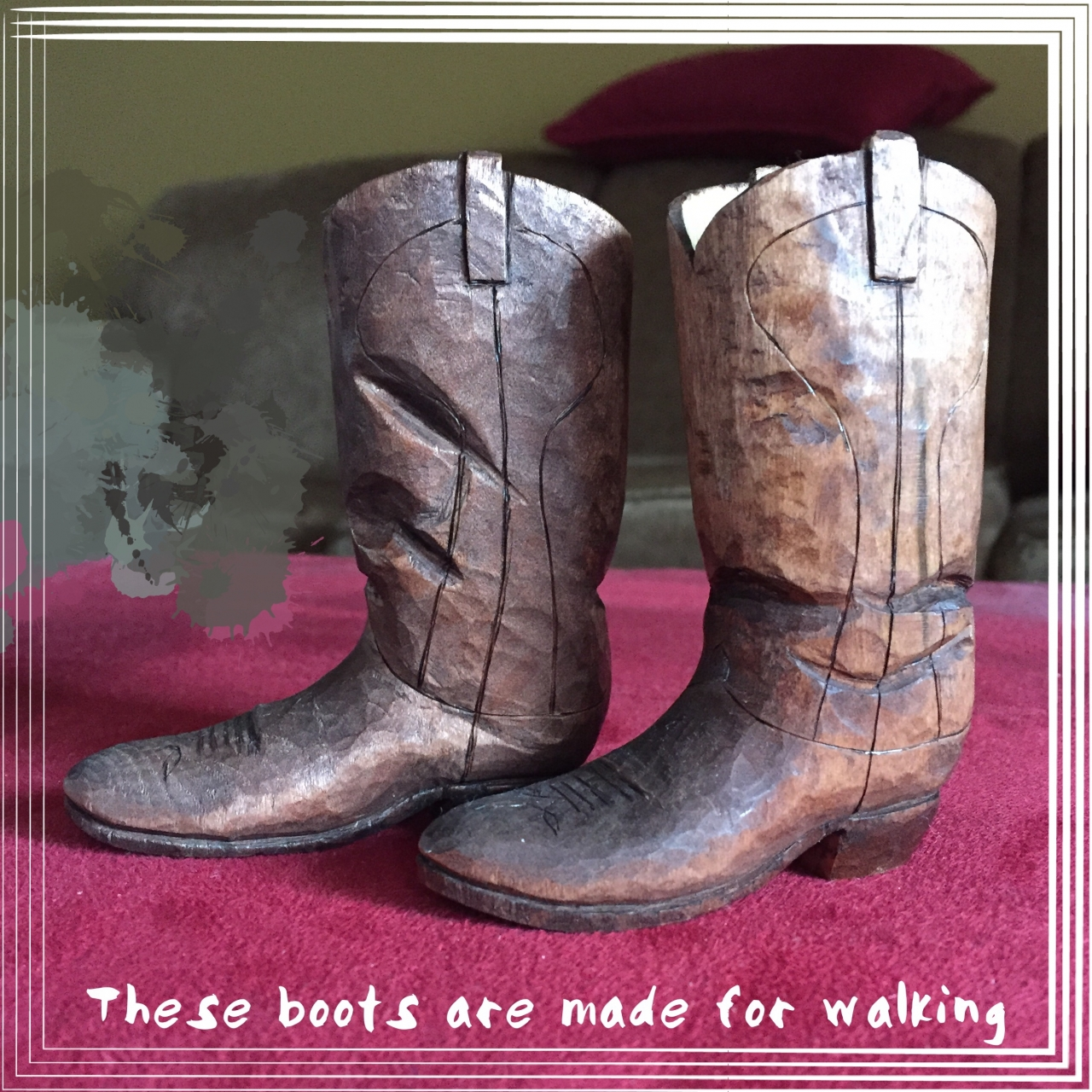 """Boots about 3"""" tall"""