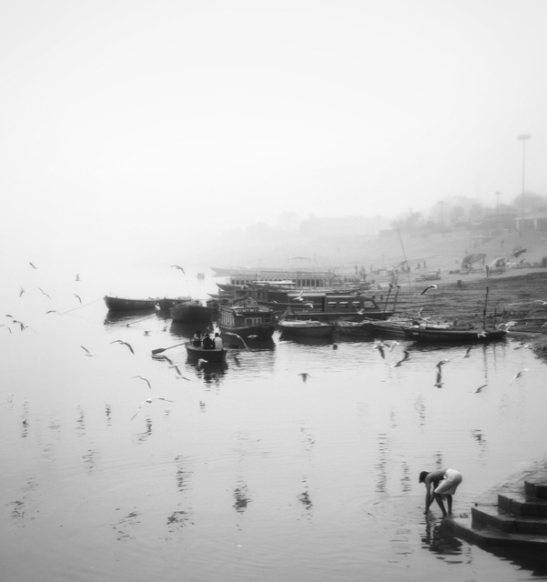 Bautiful morning in Varanasi, India