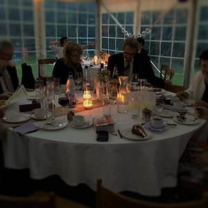 Guests by candlelight...