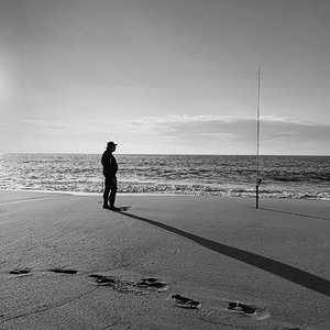 Fishing, Saint-Girons Beach